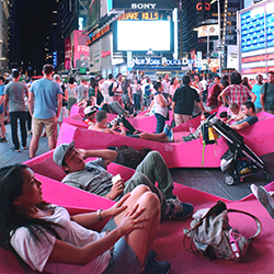 Lounging Around in Times Square