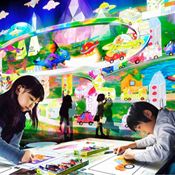 Mall Turns Kids' Drawings into Virtual 3D Town
