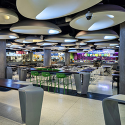 This Isn't a Spaceship, but a Food Court